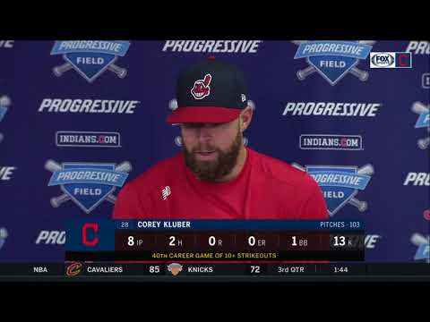 Corey Kluber says Zimmer's 2-run home run felt like more on cold day | INDIANS-TIGERS POSTGAME