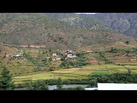 Bhutan trip / Thimphu to Paro travel video ( Mini Switzerland )