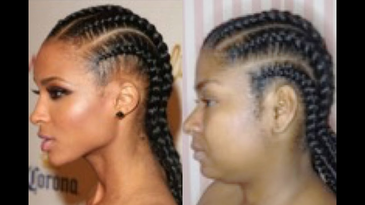 Ciara Inspired Straight Back Braids