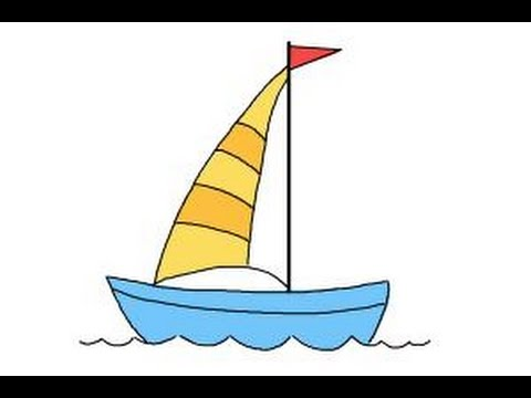 How To Draw A Simple Boat Youtube