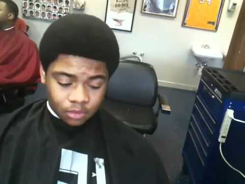 Afro Shape Up With Back Taper Microphone Smooth Youtube