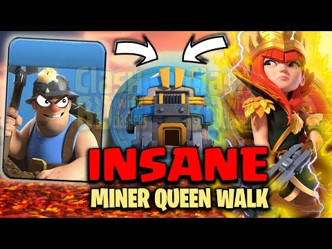 QUEEN WALK MINERS IS INSANE - How To Use Miners - Th12 MINER ATTACK STRATEGY - Clash Of Clans