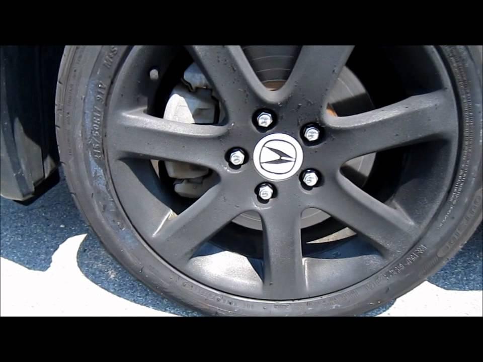Plasti Dipped Rims On An Acura TSX YouTube - Acura stock rims