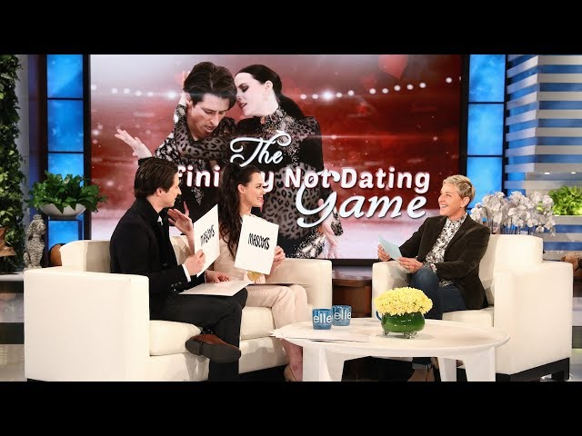 """Canadian ice dancers Tessa Virtue and Scott Moir have to constantly fend off rumors they've taken their relationship off the ice, so Ellen played """"The Definitely Not Dating Game"""" with these two friends."""
