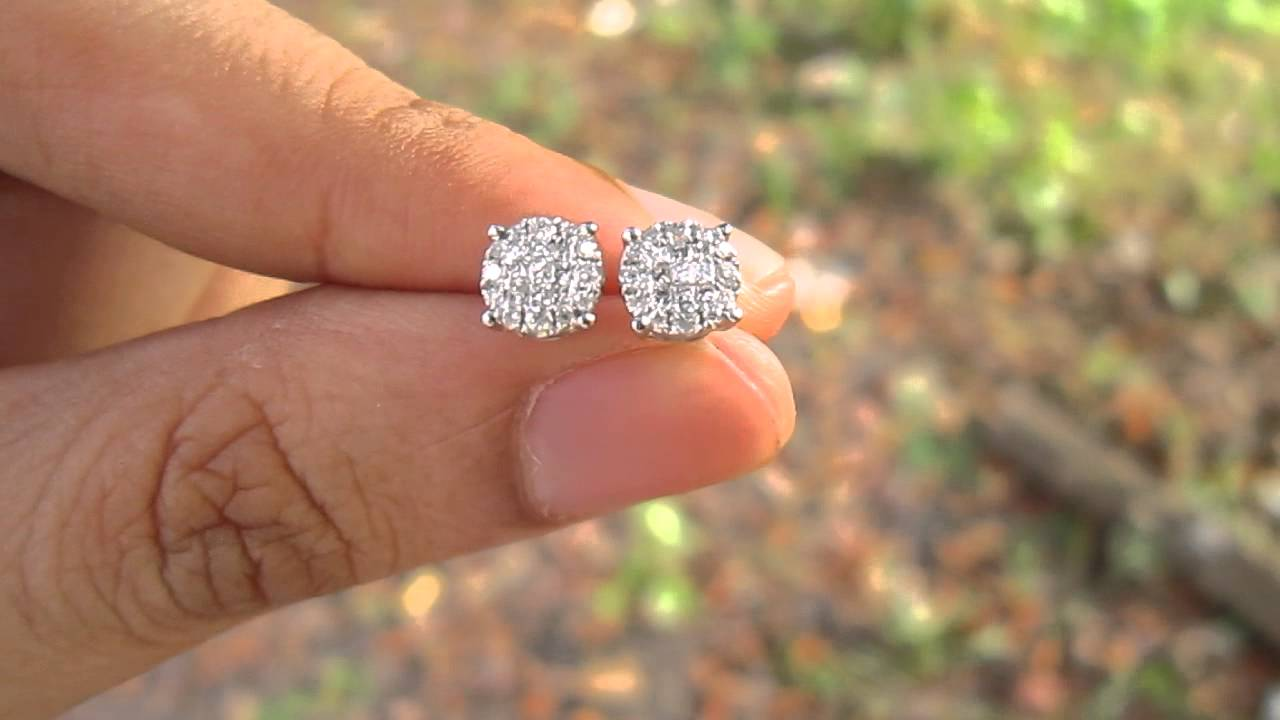 of inspirational diamond actual size carat earrings