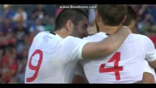 spain vs georgia 0-1 tornike okriashvili goal!