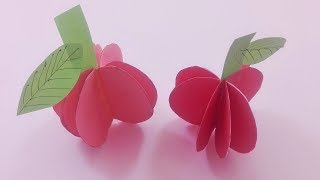 How to make Creativ paper apples 3D by Mr paper crafts