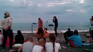 Крым пляжные музыканты на море круто