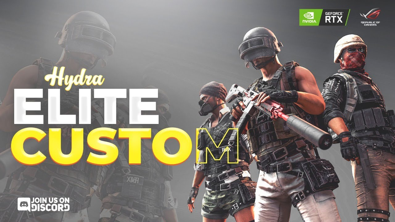 PUBG MOBILE LIVE : H¥DRA ELITE CUSTOM ROOMS! A WAY OUT LATER