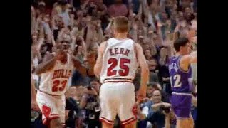 Steve Kerr's Game Winner - Chicago Bulls 1997 Finals Game 6.