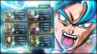 YOU'VE NEVER SEEN THIS BEFORE! FULL LR RAINBOW LR VEGITO BLUE TEAM! (DBZ: Dokkan Battle)