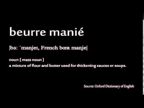 How to pronounce - beurre manié