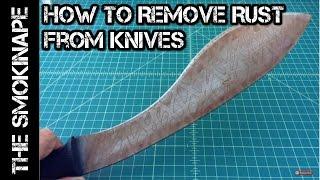 Knife Maintenance - How to Remove Rust - TheSmokinApe