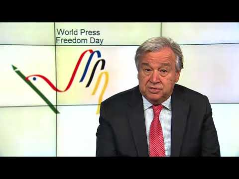 Message of UN secretary occasion of World Press Freedom