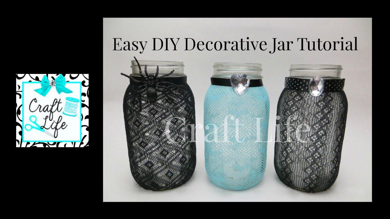 Craft Life Easy Diy Decorative Jar Tutorial Fun Room Decor Youtube
