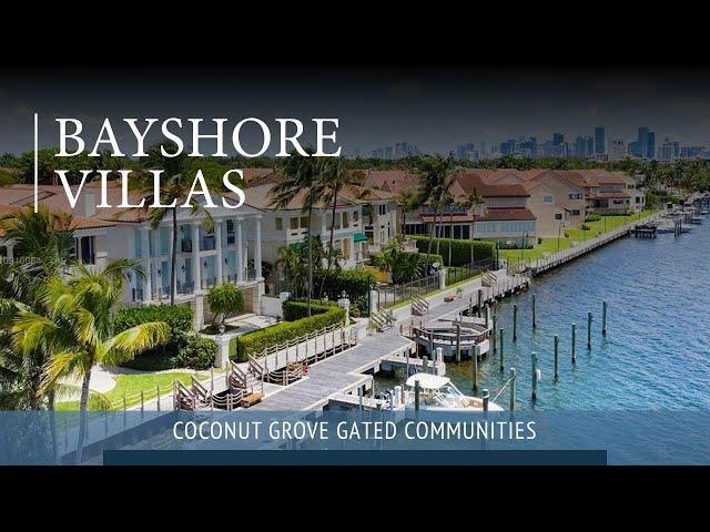 Bayshore Villa In Coconut Grove, Guard Gated Community