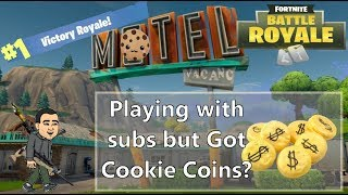 FRIDAY SUB DAY - PLAYING WITH SUBS BUT GOT COOKIE COINS? | FORTNITE BATTLE ROYALE (PS4 PRO)