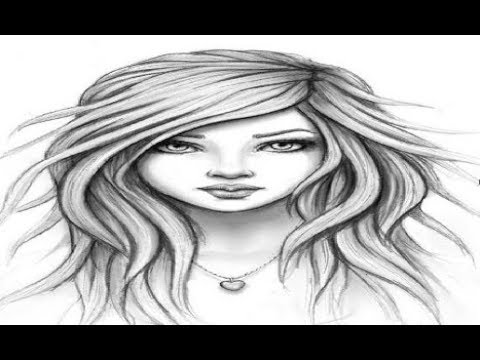 How To Draw A Beautiful Cute Girl Cute Woman Simple Pencil