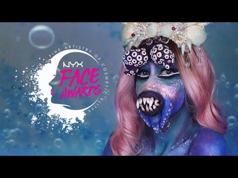 UNDERWATER CREATURES: Lana Del Octopus- NYX FACE AWARDS POLSKA- TOP 10