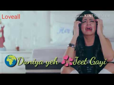 😥 Very Sad Whatsapp Status Video 💓💓 Duniya Ye Jeet Gayi Dil Haar Gaya