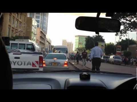 Traffic in Kampala Uganda (Scary stuff!)