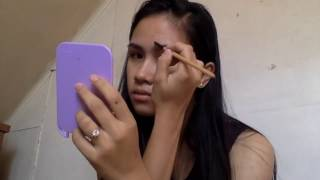 Recreating Half Moon Shaped Smokey Eye using affordable and local products (Filipino)