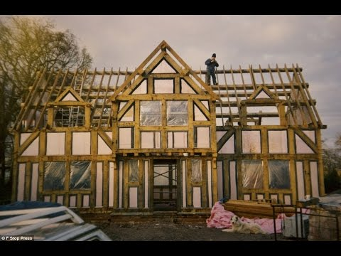 The non-mock Tudor! Couple learn plumbing, tiling and carpentry to