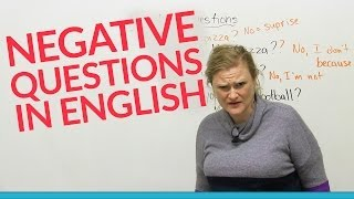 learn grammar negative questions in english