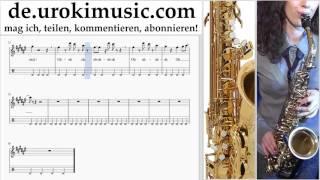 Saxophonunterricht (Alt) Mo-Torres, Cat Ballou & Lukas Podolski - Liebe deine Stadt Noten Lernen