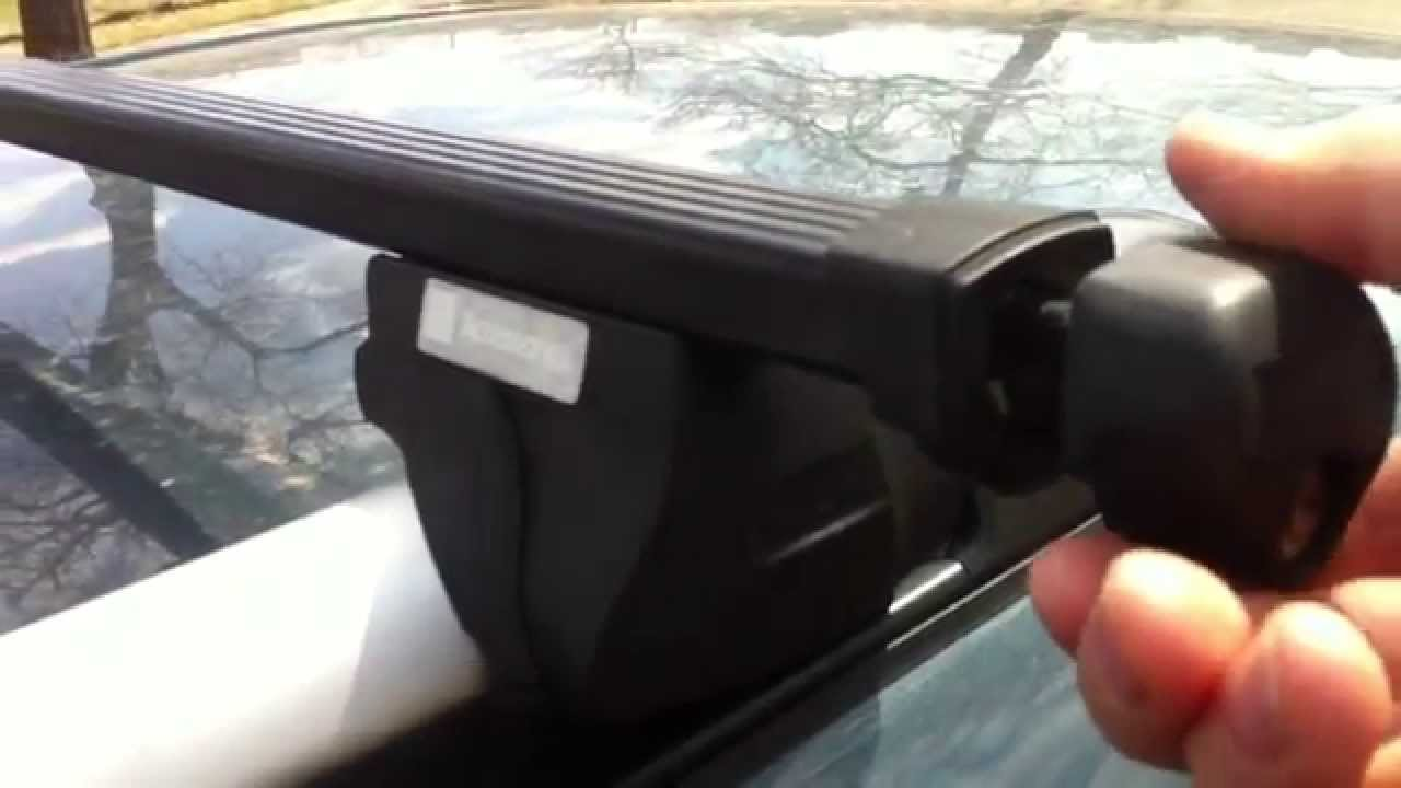 GM roof rack cross bar removal part no. 12489230 - YouTube
