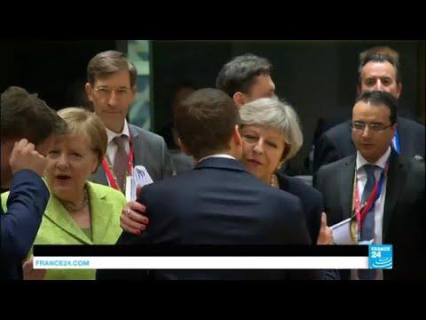 Les premiers pas de Macron à Bruxelles