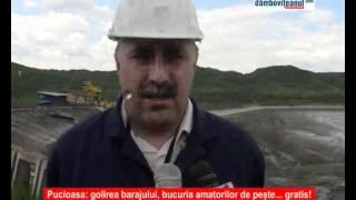 Le a pus Dumnezeu mana in cap golirea barajului Pucioasa a varsat tone de peste in Ialom ...