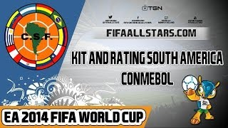 EA 2014 FIFA World Cup South America Kits Ratings - FIFAALLSTARS.COM