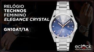 78925cf6aaf50 Relógio Technos Feminino Elegance Crystal GN10AT 1A ...