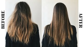 My Straight Hair Routine
