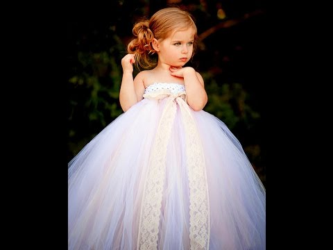 Beautiful White Tutu Dresses For Flower Girl, Weddings, Baptisms Etc - Baby  Diva Designs - YouTube