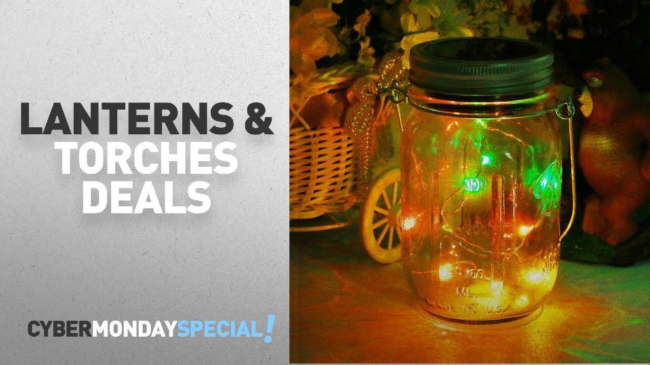 top cyber monday lanterns u0026 torches deals mason jar light solar