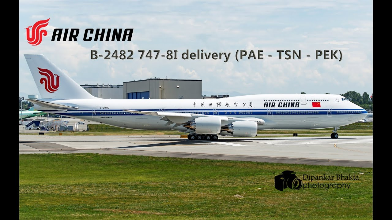 B 2482 air china latest 747 8i delivery flight from pae to beijing b 2482 air china latest 747 8i delivery flight from pae to beijing intl via tianjin youtube publicscrutiny Images
