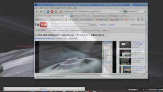 Animated wallpaper! ArchLinux + XFCE 4.6 + XWinWrap
