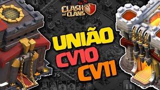 INCRÍVEL ATAQUE UNINDO CV10 E CV11 CLASH OF CLANS