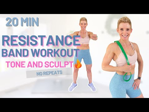 Resistance Band Workout to Tone and Sculpt | Beginner Friendly No Repeats