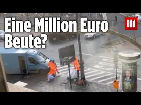 Als Müllmänner verkleidet: Gangster überfallen Geldtransporter am Kudamm   Berlin