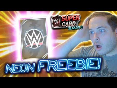 Neon Tier FREEBIE!! First Season 5 PRO! | WWE SuperCard Season 5
