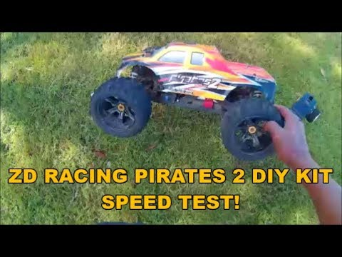 ZD RACING PIRATES 2 (DIY KIT) 4S SPEED TEST