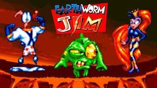 Earthworm Jim (Червяк Джим) прохождение (Sega Mega Drive, Genesis)