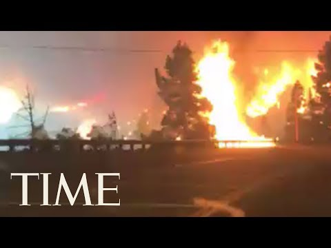 Aimee - Woman Drives Through CA Wildfire