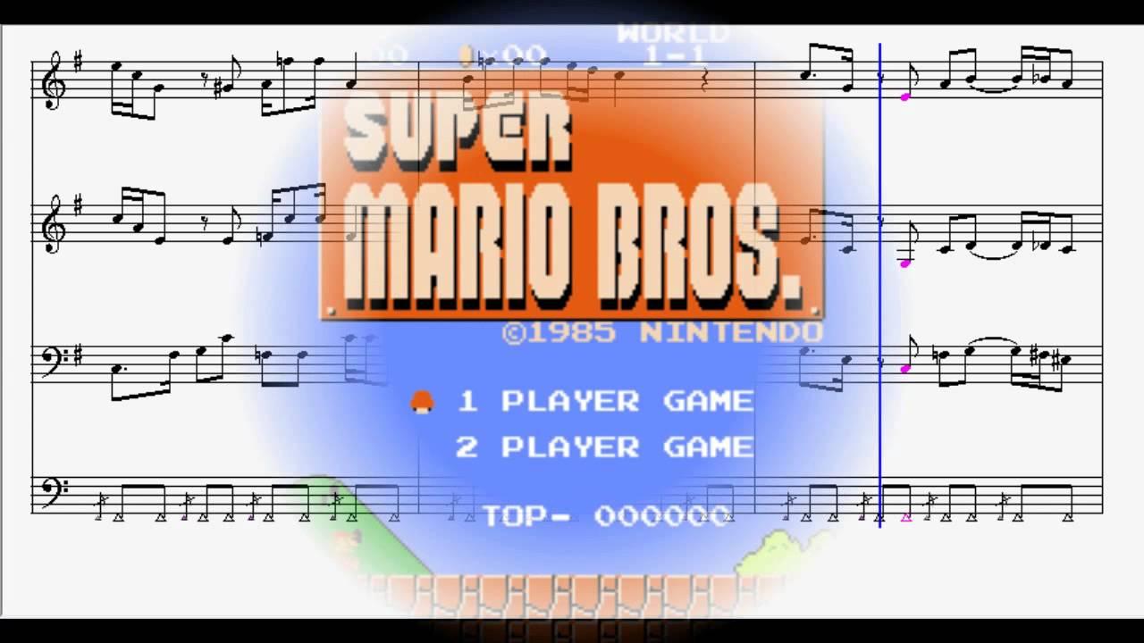Super Mario Bros  Main Theme Sheet Music
