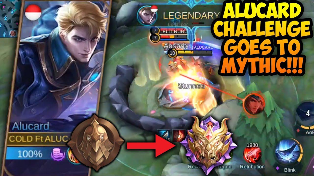 CHALLENGE BUAT AKUN BARU PAKE ALUCARD KE MYTHIC!!!