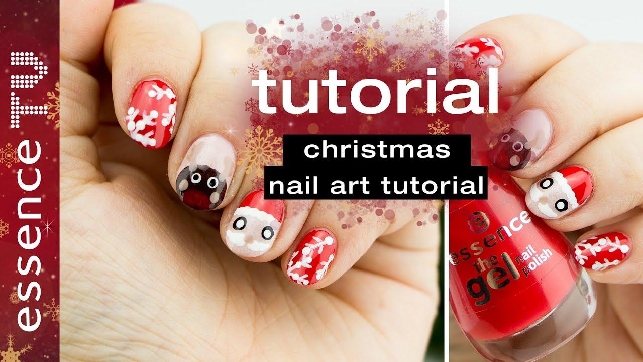 nail art designs tutorial deutsch - weihnachten 3 motive anfänger ...