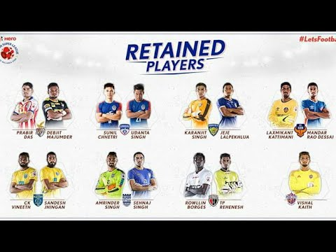 ISL RETAINED PLAYERS(Season 4) - 2017
